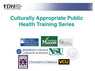 Socially Appropriate Public Health Training Series