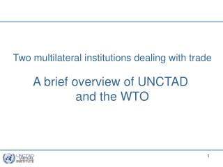 Sources of the WTO