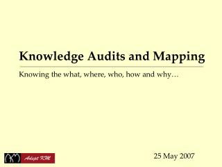 Information Audits and Mapping