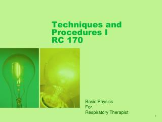 Methods and Procedures I RC 170