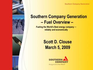 Southern Company Generation Fuel Overview