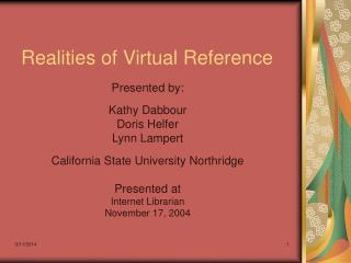Substances of Virtual Reference