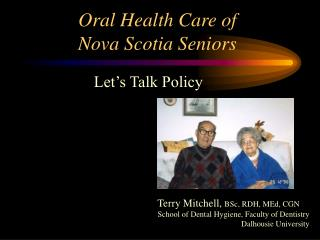 Oral Health Care of Nova Scotia Seniors