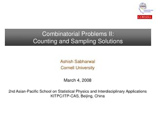 Combinatorial Problems II: Counting and Sampling Solutions