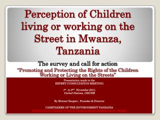 Impression of Children living or chipping away at the Street in Mwanza, Tanzania