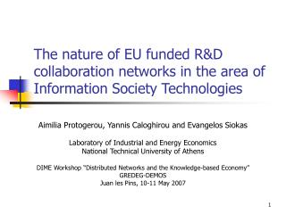 The way of EU subsidized RD cooperation systems in the territory of Information Society Technologies