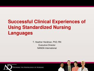 Fruitful Clinical Experiences of Using Standardized Nursing Languages