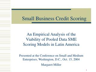 Little Business Credit Scoring