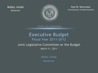 Official Budget Fiscal Year 2011-2012