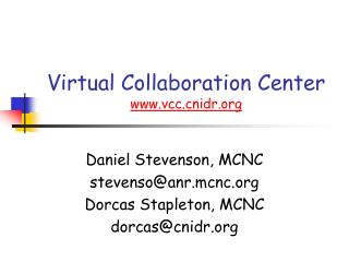 Virtual Collaboration Center vccidr