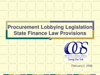 Acquirement Lobbying Legislation State Finance Law Provisions