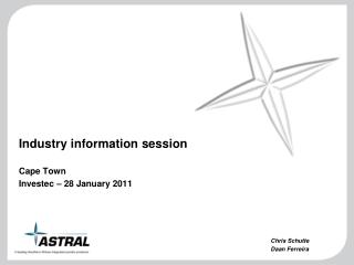 Industry data session