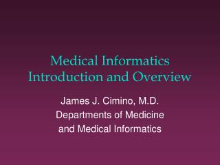Restorative Informatics Introduction and Overview